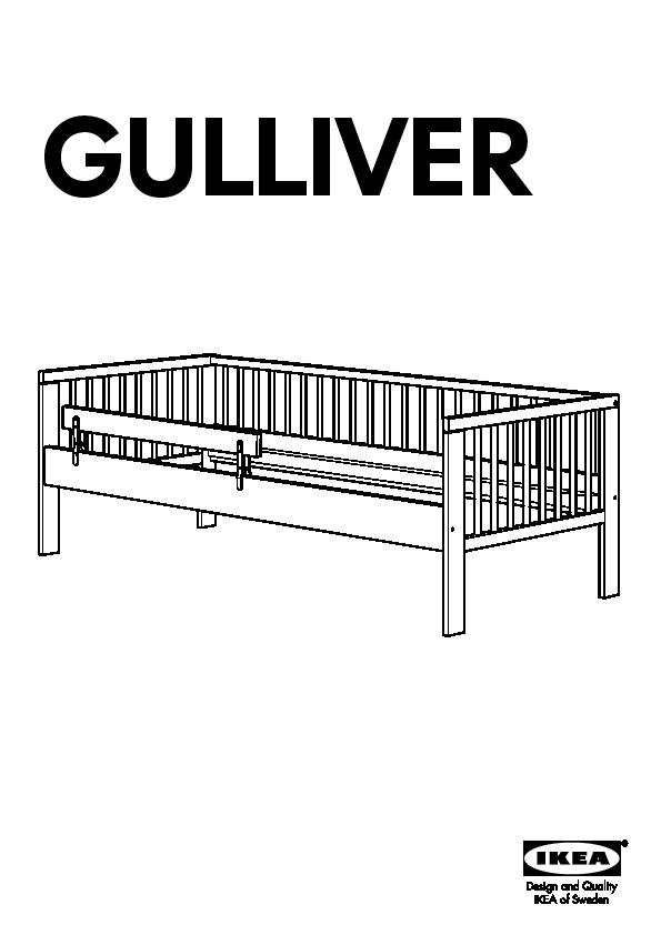GULLIVER Bed frame with slatted bed base birch (IKEA
