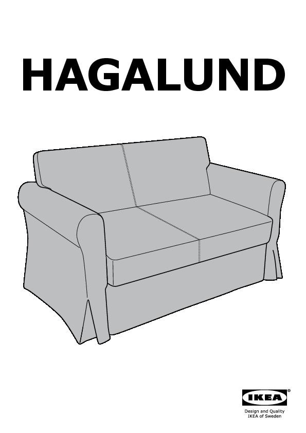 Divani 2 Posti Ikea Letto : divani, posti, letto, HAGALUND, Divano, Letto, Posti, Fruvik, IKEAPEDIA