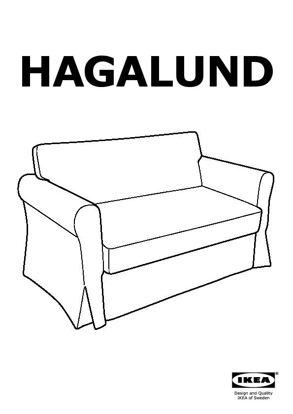 Hagalund Two Seat Sofa Bed Blekinge White Ikea United