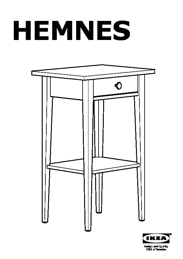 Hemnes Table De Chevet Teinté Blanc Ikea France Ikeapedia