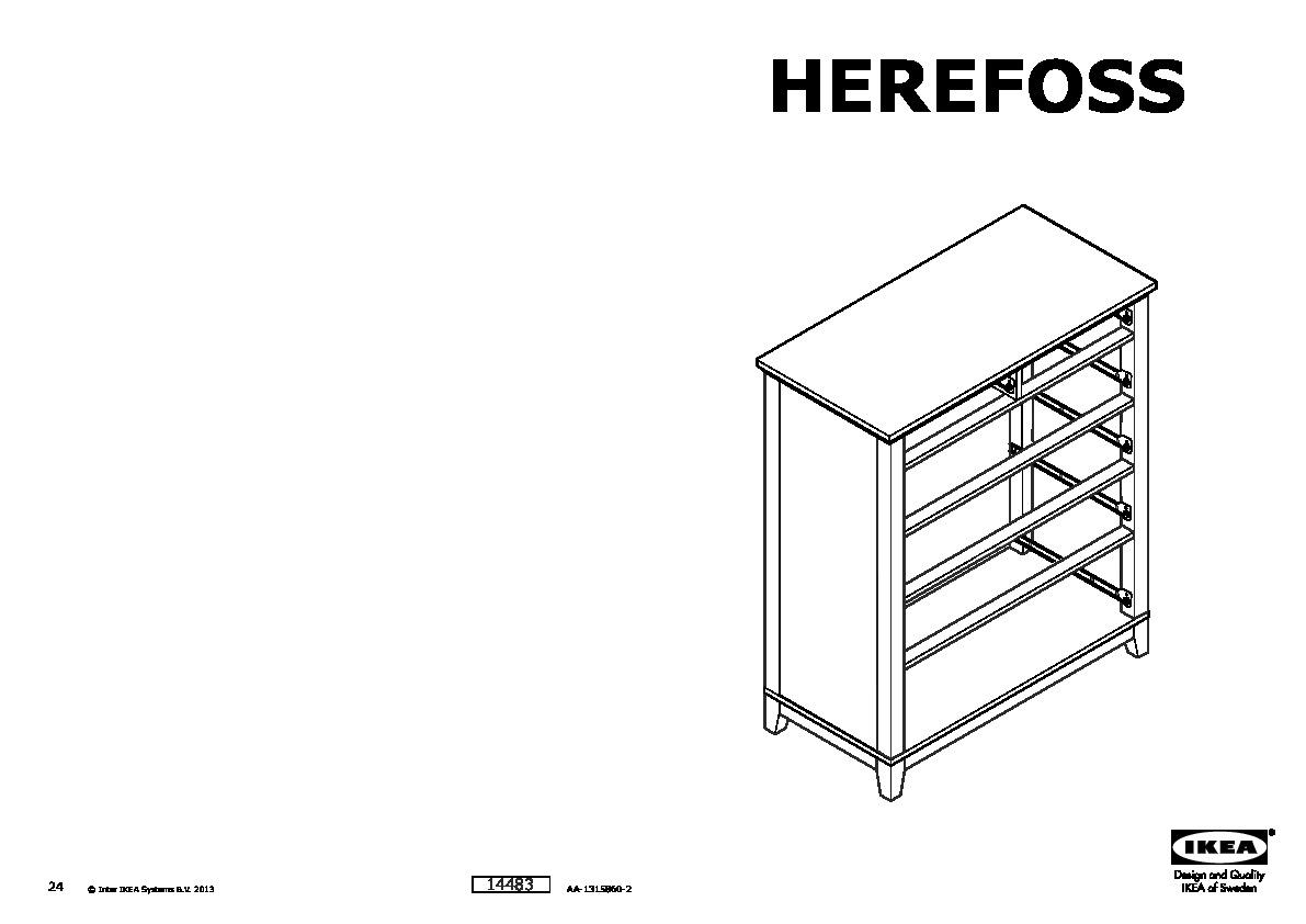 HEREFOSS Chest of 6 drawers white (IKEA United Kingdom