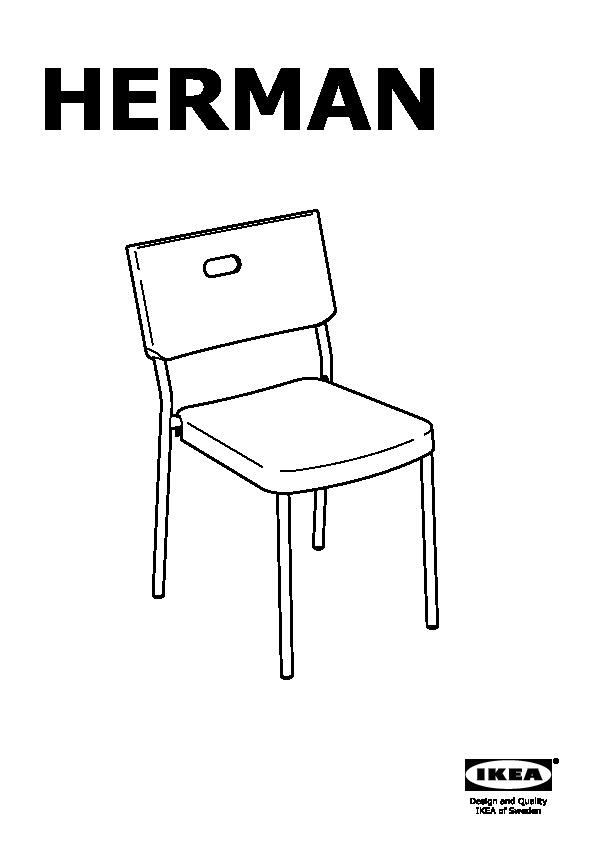 herman chaise blanc ikeapedia