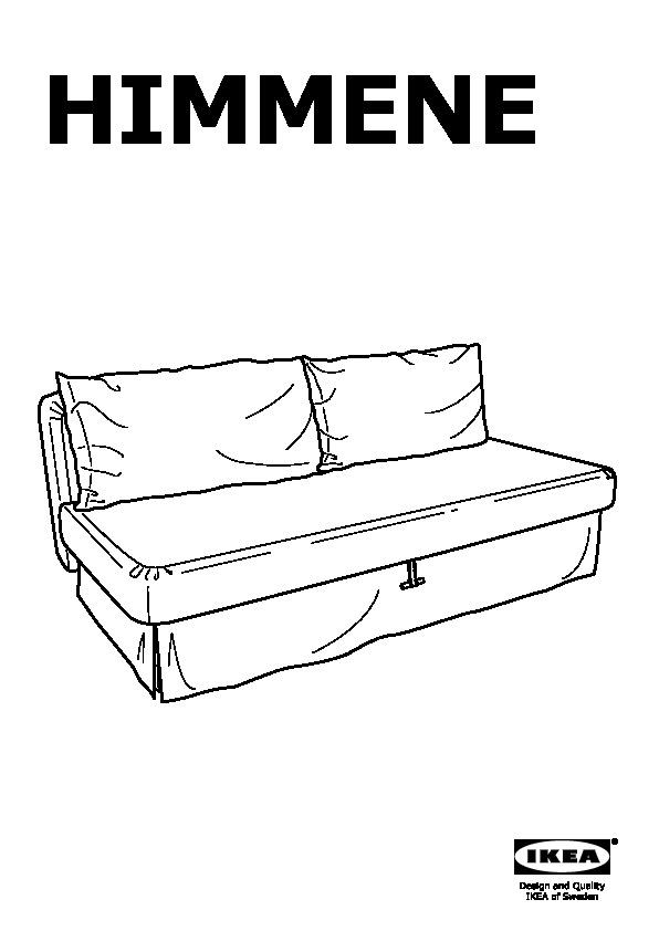 HIMMENE Sofa bed Lofallet beige (IKEA United States