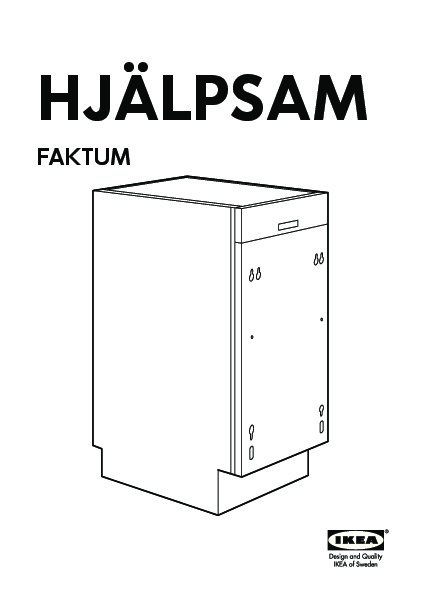 HJÄLPSAM Integrated dishwasher A grey (IKEA United Kingdom