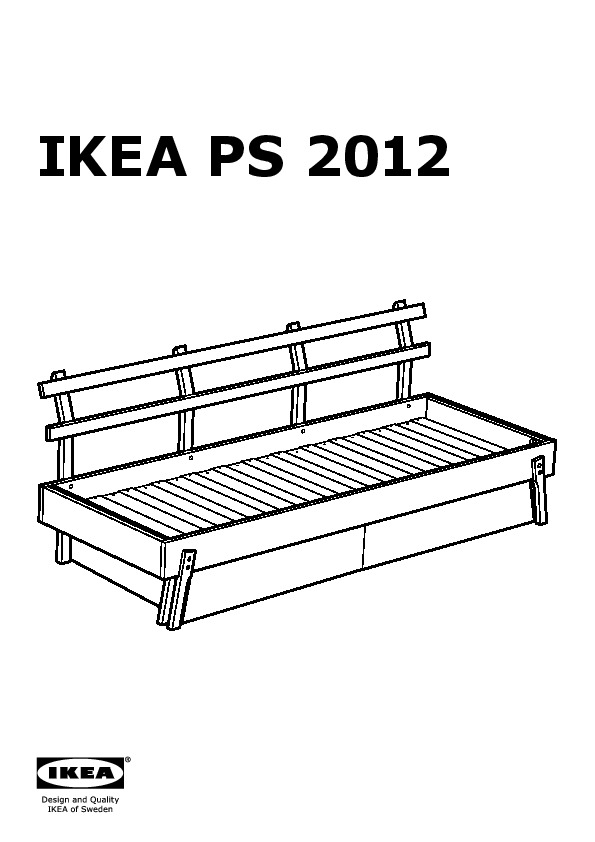 IKEA PS 2012 Day-bed w drawer, mattr and pillows white