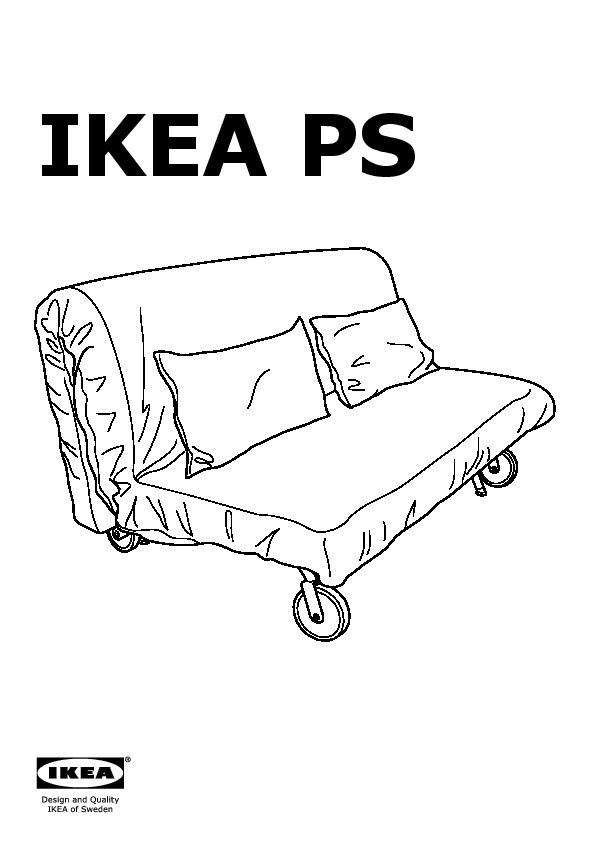 Divani 2 Posti Ikea Letto : divani, posti, letto, LÖVÅS, Divano, Letto, Posti, Vansta, Rosso, IKEAPEDIA