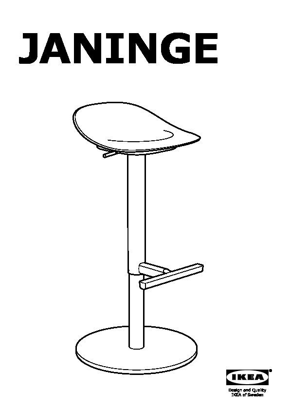 Janinge Tabouret De Bar Blanc Ikea France Ikeapedia