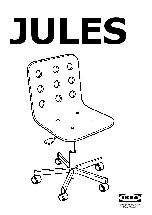 ikea jules chair rental philadelphia junior desk blue silver color united states frame swivel