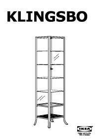 KLINGSBO Glass-door cabinet black, clear glass (IKEA ...