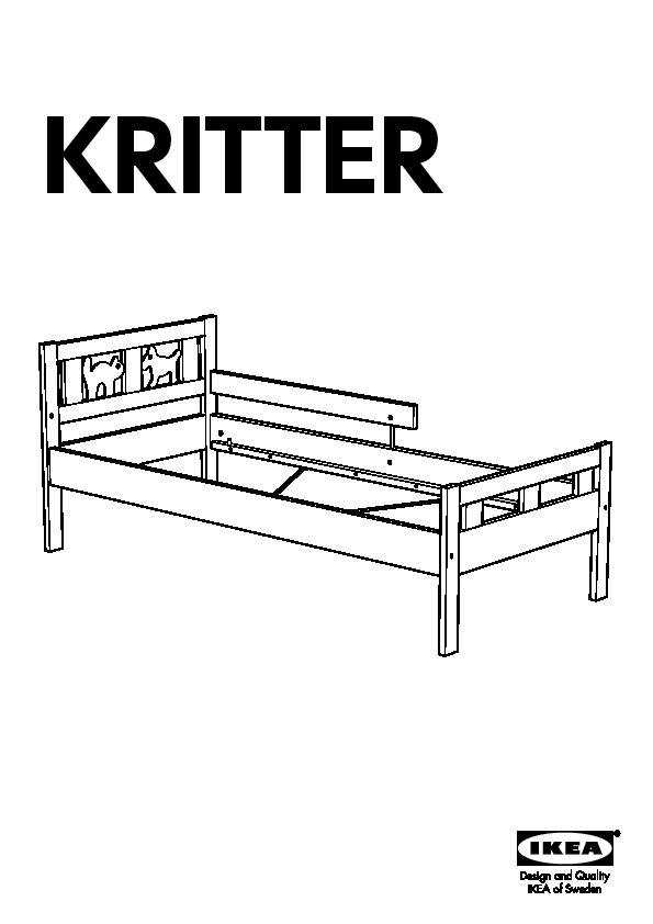 KRITTER Bed frame with slatted bed base pine (IKEA United