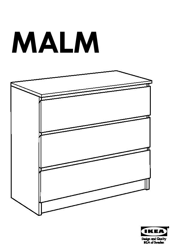 malm commode 3 tiroirs blanc ikeapedia