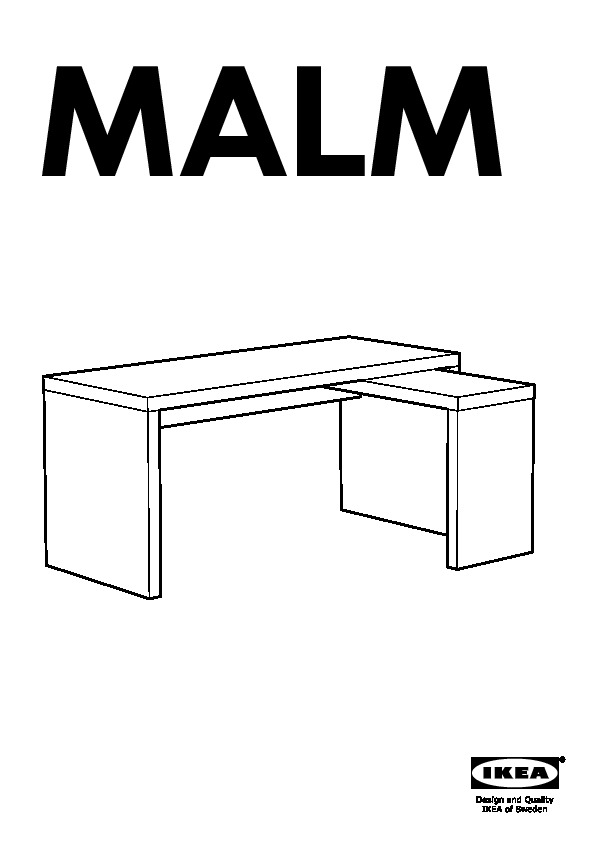 MALM Desk with pull-out panel oak veneer (IKEA United