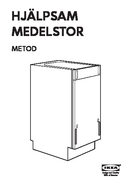 MEDELSTOR Integrated dishwasher grey (IKEA United Kingdom