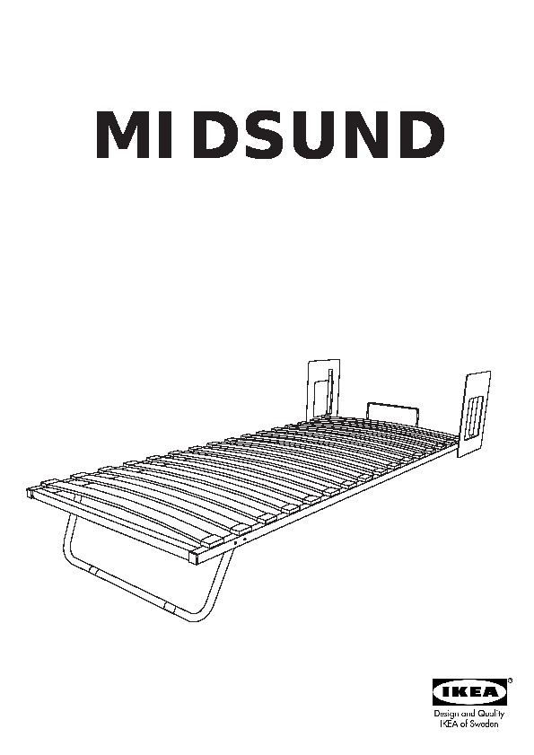 MIDSUND Wall bed black-brown, white (IKEA United Kingdom