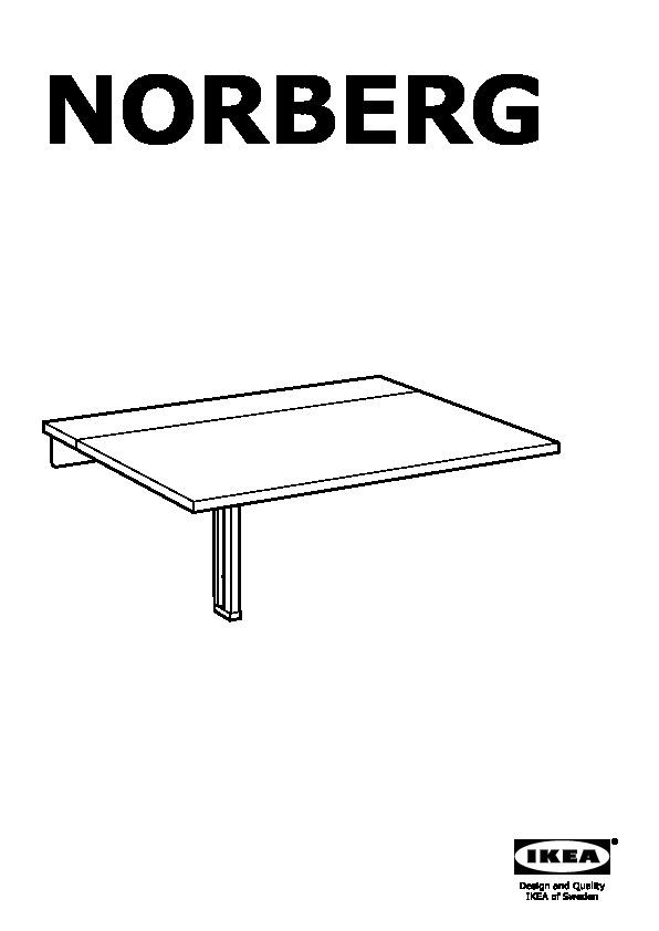 norberg table murale a rabat blanc