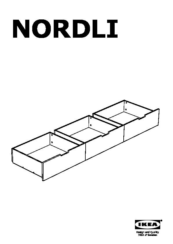 NORDLI Bed frame with storage white (IKEA United States