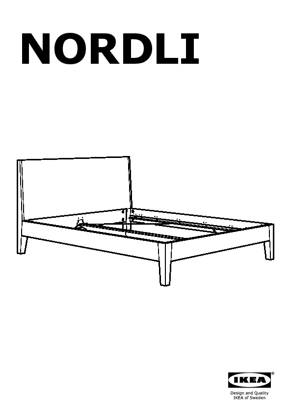 NORDLI Bed frame white, Leirsund (IKEA United Kingdom