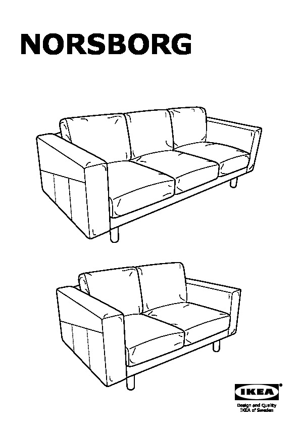 NORSBORG Sofa and chaise lounge Finnsta dark gray, gray