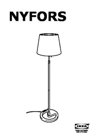 NYFORS Floor lamp nickel plated white (IKEA United States ...