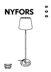 NYFORS Floor lamp nickel plated (IKEA United States ...