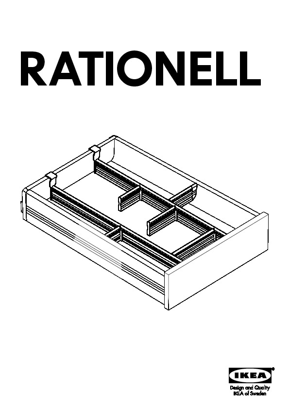 Ikea rationell drawer instructions