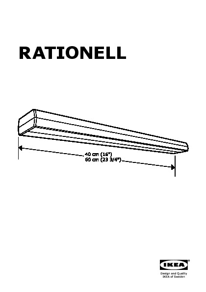 RATIONELL LED countertop light silver color (IKEA United