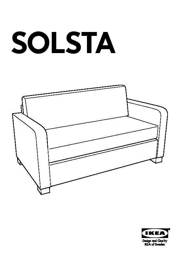 SOLSTA Convertible 2 places Ransta gris foncé (IKEA France