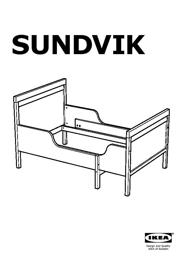 sundvik ext bed frame with slatted bed