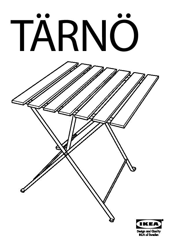 TÄRNÖ Table+2 chaises, extérieur gris brun, Särö beige
