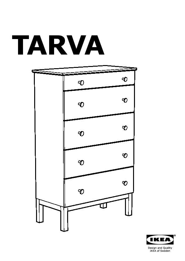 TARVA Chest of 5 drawers pine (IKEA United Kingdom