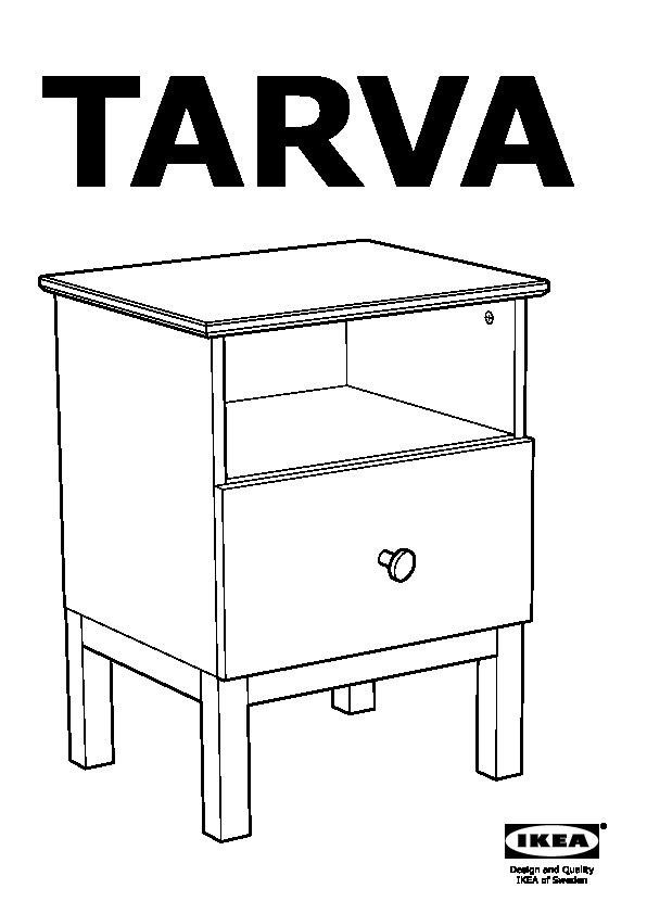 tarva table de chevet pin ikea france