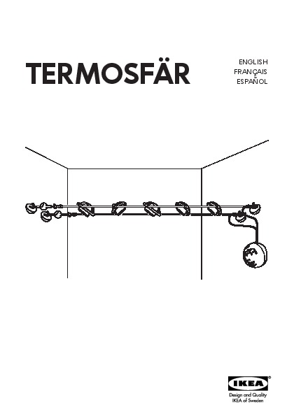 TERMOSFÄR Low-voltage wire system 5 spots chrome plated