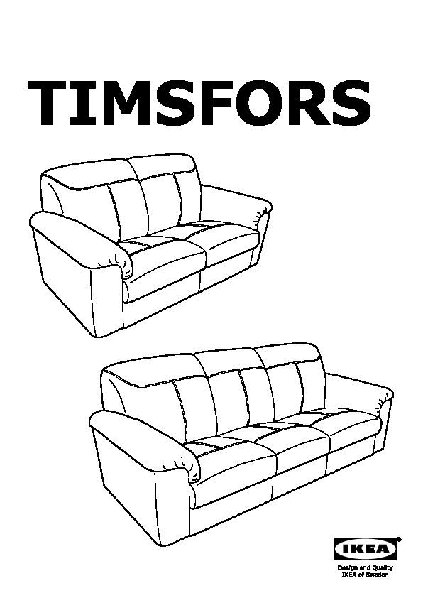 TIMSFORS Sofa Mjuk, Kimstad black (IKEA United States