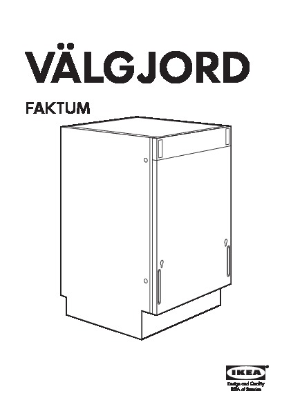 VÄLGJORD Integrated dishwasher (IKEA United Kingdom