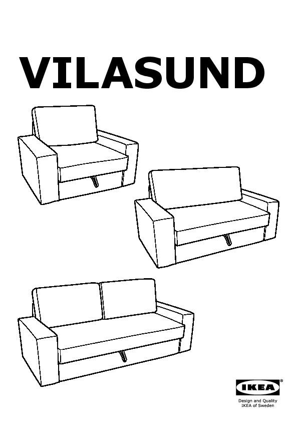 Divani 2 Posti Ikea Letto : divani, posti, letto, VILASUND/MARIEBY, Divano, Letto, Posti, Vittaryd, Beige, Chiaro, IKEAPEDIA