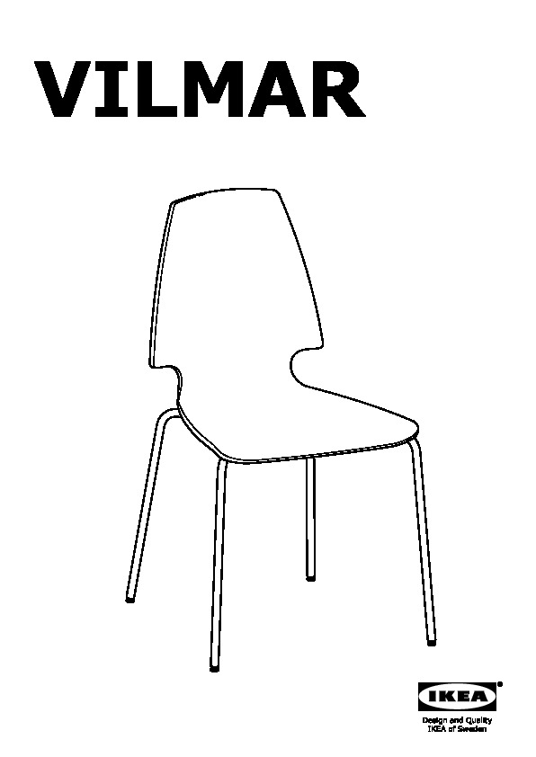 vilmar chaise raye noir chrome ikeapedia