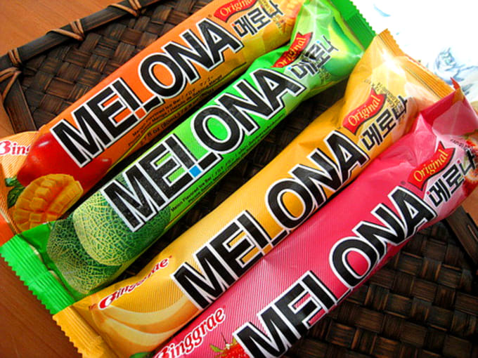 Different flavours of Melona