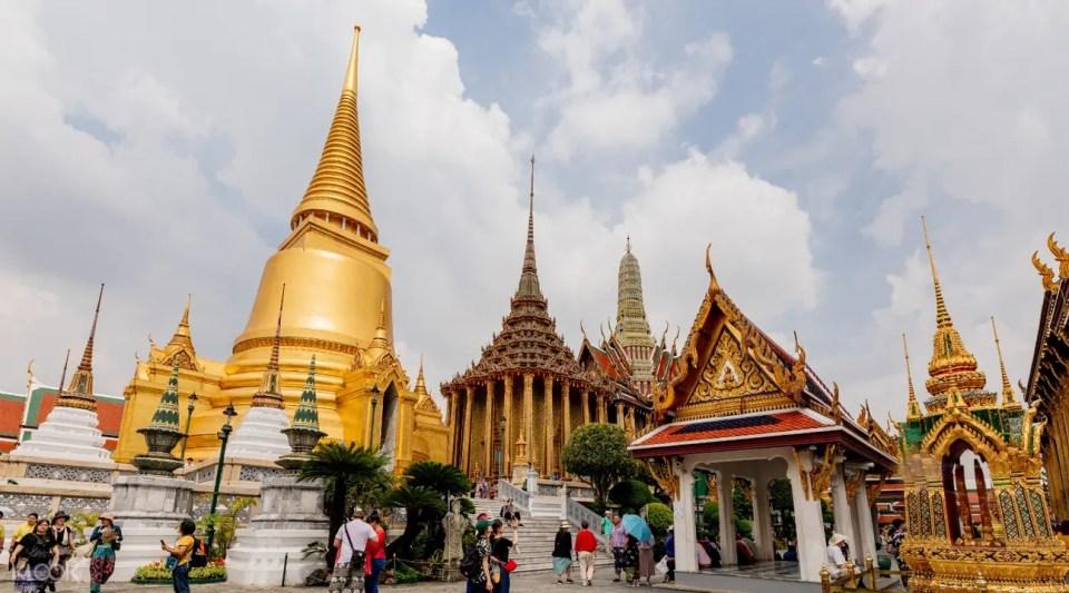 曼谷大皇宮裡的建築和寺廟