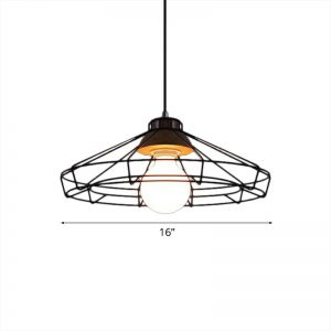Single Wire Saucer/Drum/Barrel Cage Ceiling Lamp