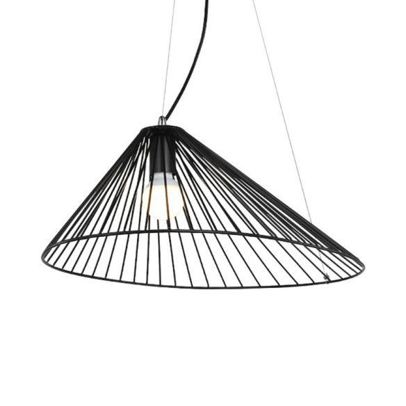Wire Caged Drop Ceiling Light 1 Bulb Modern Simple Hanging