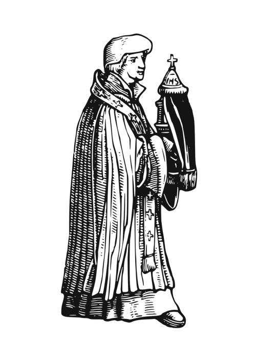 small resolution of medieval priest with sacrament