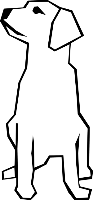simple dog drawing clip publicdomainfiles domain pdf animal restrictions identified known copyright