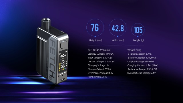 The Specifications of SMOK Fetch Mini