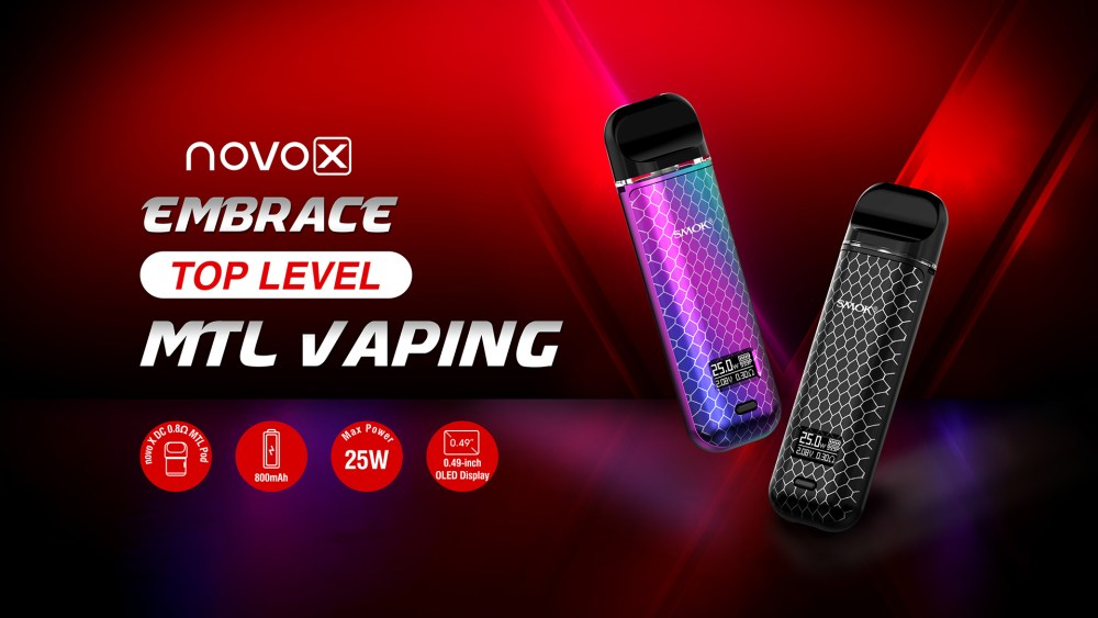 Novo X - Embrace Top Level MTL vaping