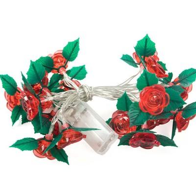 led rose flower string