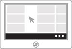 Ilustração da exibição dos comandos de aplicativo