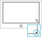 Ilustração da abertura dos botões com um mouse