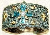 Ethereal cross wide cuff, bto.