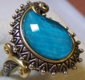 Ring from couture turquoise doublet suite.