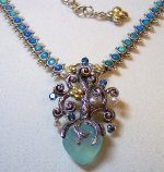 Bixby opal necklace with chalcedony/bto/pearl tree of life enhancer.